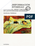 Giddens, Anthony - La transformación de la intimidad