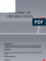 Control of the Processes