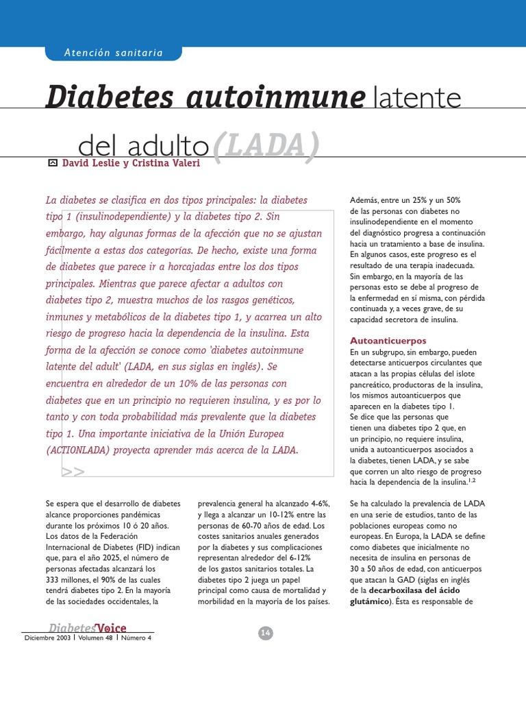 gad de anticuerpos de diabetes tipo 1