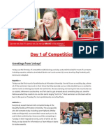 2014 USA Games Team Missouri newsletter -- Monday edition!