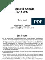 IT Market in Canada 2014-2018