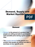 ME Demand Supply Equilibrium