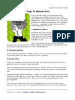 7 Steps to Eliminate Debt