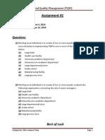 Assignment 1 - Tqm