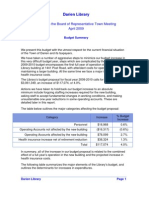 Town Budget Proposal for Fiscal Year 2009-2010