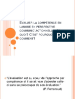 Evaluer La Competence en Langue en Perspective CommunicÔÇÖactionnelle