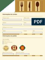 Formulário de Pedido Do Restaurante