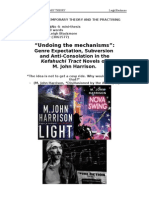 Genre Expectation, Subversion and Anti-Consolation in the Kefahuchi Tract Novels of M. John Harrison