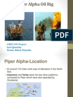 1988 Piper Alpha Oil Rig Ablaze