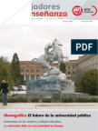 Monográfico Sobre El Futuro de La Universidad Pública en La Revista Trabajadores de La Enseñanza