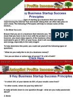 9 Key Business Startup Success Principles - Autopilot Profits Income