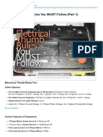 1 Electrical Thumb Rules