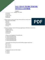 Contoh Soal Ujian Teori Teknik Instalasi Tenaga Listrik