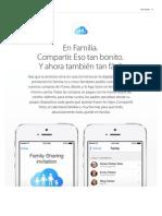 iCloud - Compartir con la familia