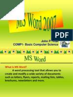 -Comp1 Lec 3 - Word Summer 2014