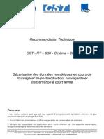 CST RT030 C 2014 V1.0 Sécurisation Des Données