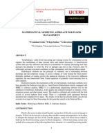 Mathematical Modeling Approach for Flood Management