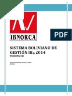 Sistema Boliviano de Gestión vs 1 _2014