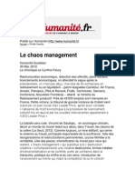 Fleury Chaos Management