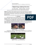 Analysis of Digital Image Splicing Detection
