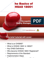 Basics of OHSAS 18001