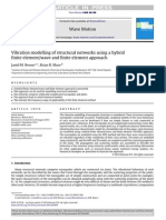 Vibration Modelling of Structural Networks Using a Hybrid Finite Elementwave and Finite Element Approach