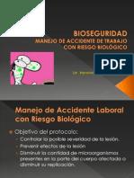 Clase 09 Bioseguridad Manejo de Accidente de Trabajo