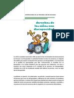 3 de Diciembre Dia Del Niño Con Discapacidad