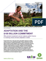 Adaptation and the $100 billion Commitment