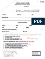 Application for Admission to ALS Program