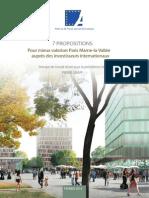 7 Propositions Pour Mieux Valoriser Paris Marne-la-Vallée, Paris-Ile de France Capitale Economique