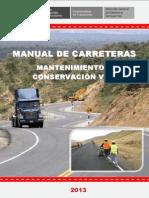 Manual de Carreteras Mantenimiento o Conservación Vial Final