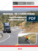 Manual de Carreteras Mantenimiento o Conservación Vial Final