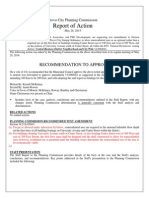 Planning Commission Report - Downtown Zone Modification