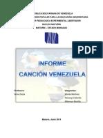 Informe Sobre La Cancion Venezuela