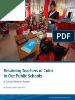 Retaining Teachers of Color in Our Public Schools