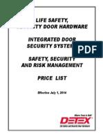 Detex 2014 Price List