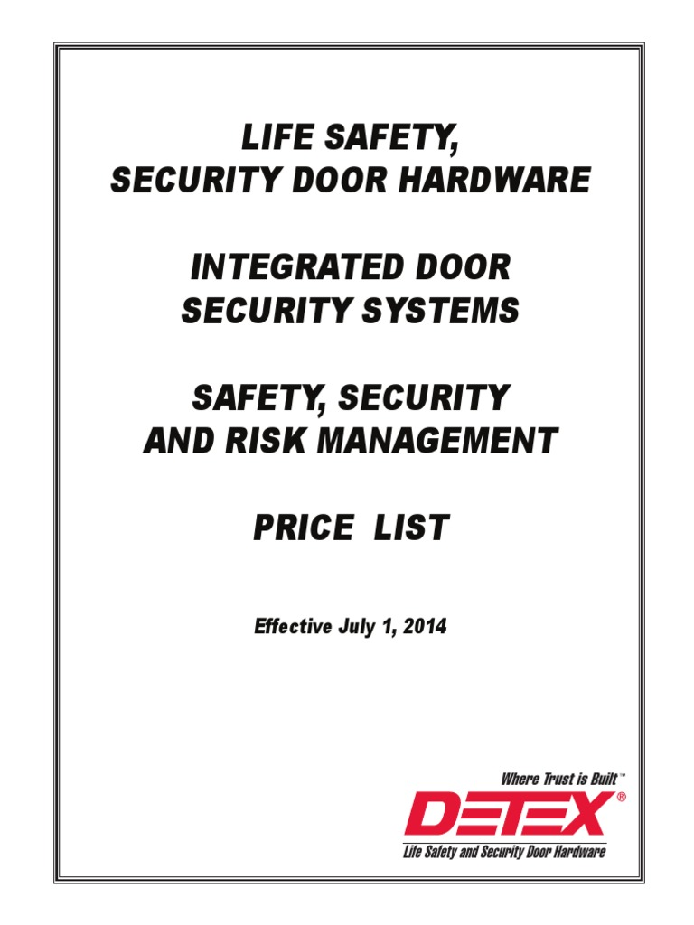 Detex 2014 Price List Door Access Control Bea Maglock Wiring Diagram