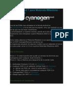 CyanogenMod 7 Para Motorola Milestone - Android 2.3.3