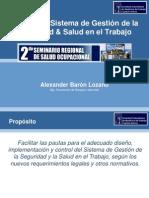 Diseño Del SGSST - Seminario Sociedad Colombiana MDPT - Alex Baron Lozano