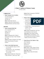 CCCDC Clinics List