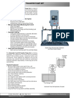 Automatic Fuel Oil Transfer Pump Set - Datasheet