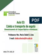 Aula 3 - Coleta e Transporte de Esgoto