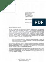 Lettre Barreau de Paris au Premier ministre 16-06-2014