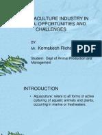 Aquaculture Presentation by Komakech Richard