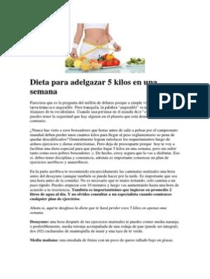 Dietas para adelgazar rapidamente gratis