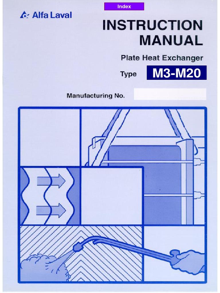 Alfa laval m3 manual рекуператор с промежуточным теплообменником