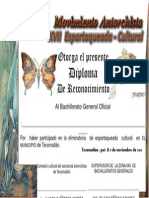 Diploma Espartaqueada