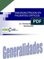 Imnunonutricion en Pacientes Criticos - Arequipa