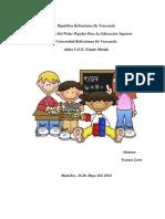 Trabajo Valoración de Aprendizaje de Niños Niñas de 0 a 6 Años